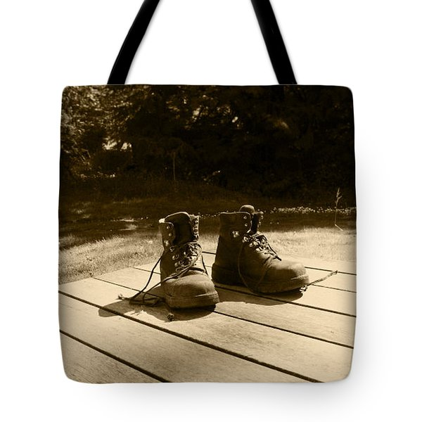 Hard Days Work Tote Bag by Kym Backland