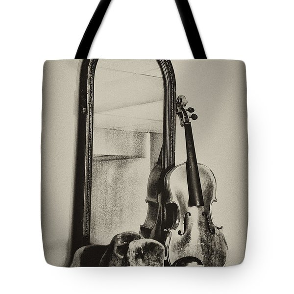 Hat And Fiddle Tote Bag by Bill Cannon