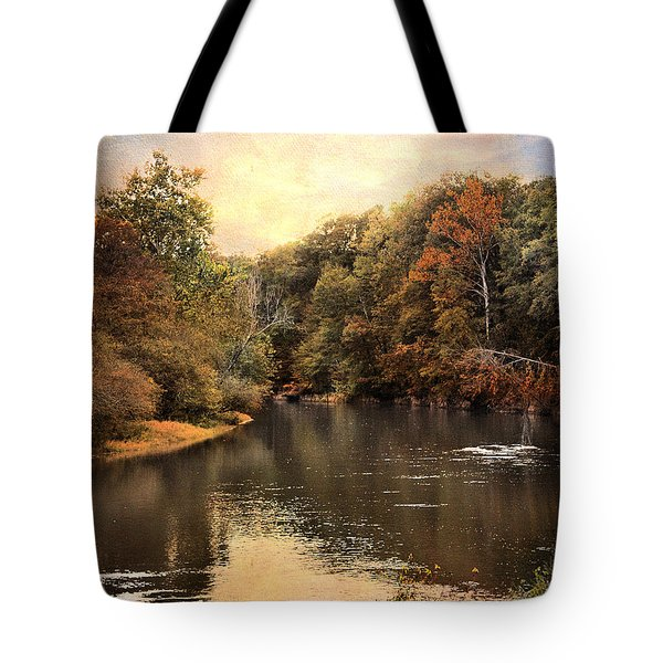 Hatchie River Tote Bag by Jai Johnson