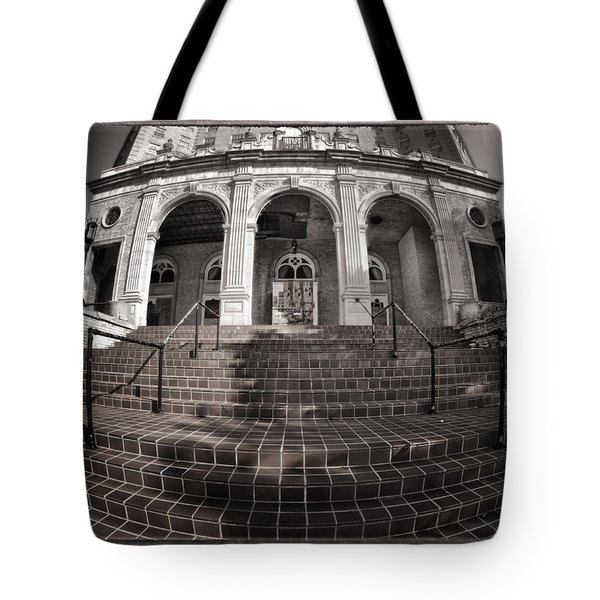 Haunted House Tote Bag by Joan Carroll