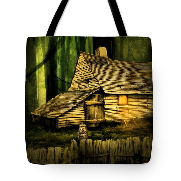 Haunted Shack Tote Bag by Lourry Legarde