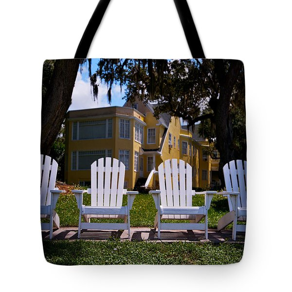 Have A Seat Tote Bag by Christopher Holmes