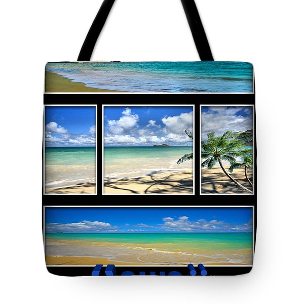 Hawaii Pentaptych Tote Bag by Cheryl Young