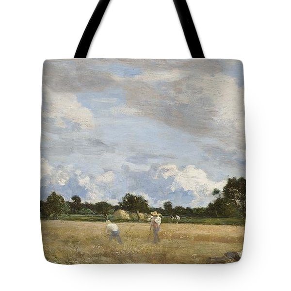 Haymaking Tote Bag by Eugene Louis Boudin
