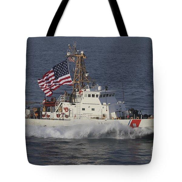 He U.s. Coast Guard Cutter Adak Tote Bag by Stocktrek Images