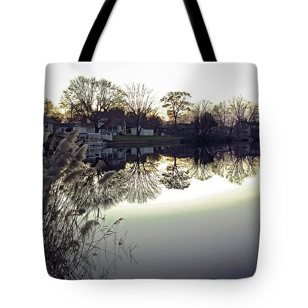 Hearns Pond Reflection Tote Bag by Brian Wallace