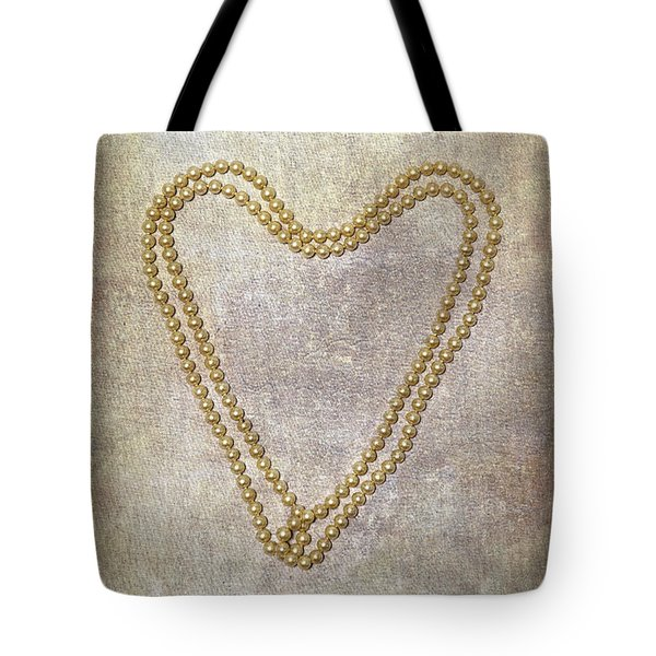 Heart Of Pearls Tote Bag by Joana Kruse