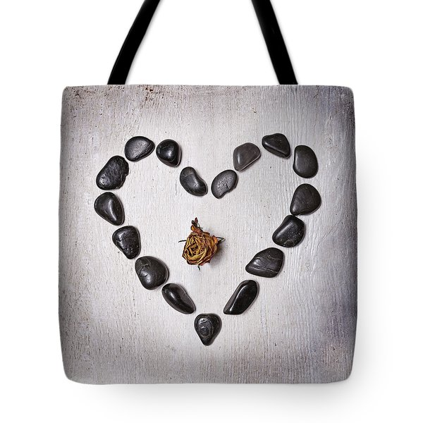 Heart With Rose Tote Bag by Joana Kruse