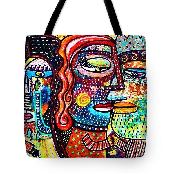 Heartbreak Dance Tote Bag by Sandra Silberzweig