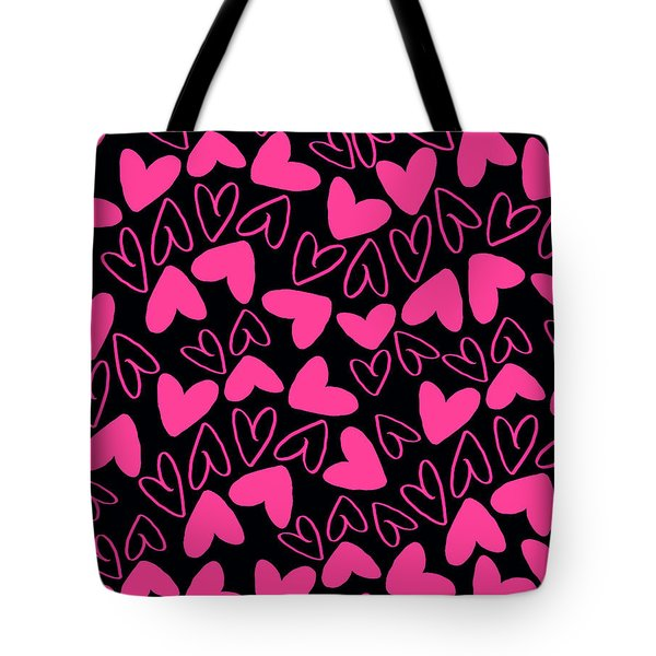 Hearts Tote Bag by Louisa Knight