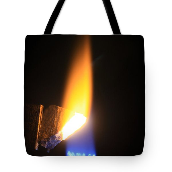 Heating Lime Limelight Tote Bag by Ted Kinsman