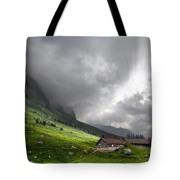Heaven's Gate Tote Bag by Debra and Dave Vanderlaan