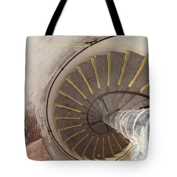 Helical Stairway Tote Bag by Sonali Gangane