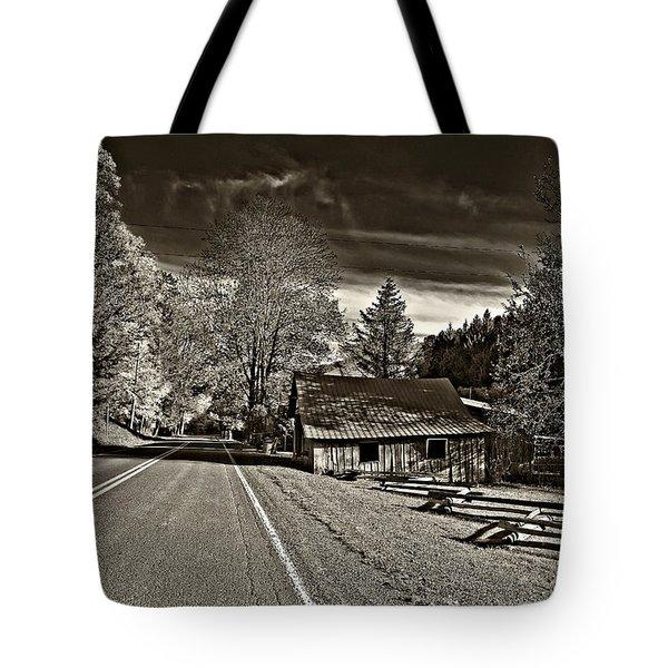 Helvetia WV monochrome Tote Bag by Steve Harrington