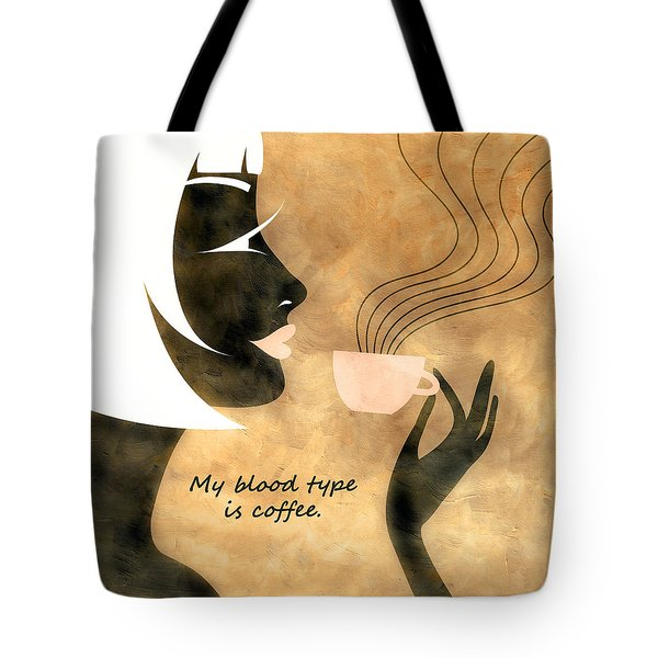 Her Blood Type Tote Bag by Angelina Vick