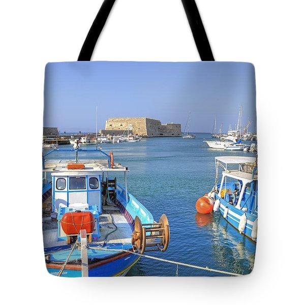 Heraklion - Venetian fortress - Crete Tote Bag by Joana Kruse