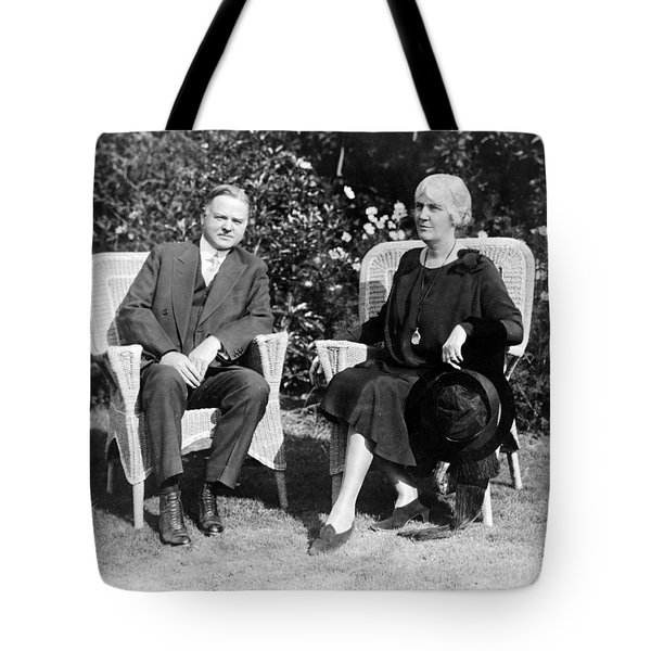 Herbert Hoover Seated With His Wife Tote Bag by International  Images