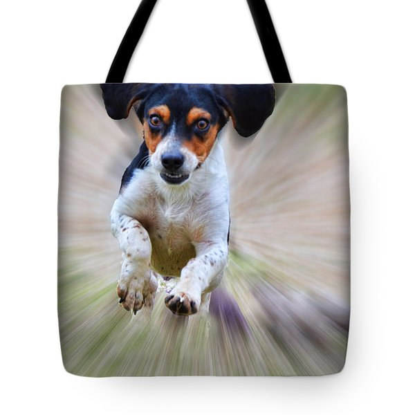 Here I Come Tote Bag by Debbie Portwood