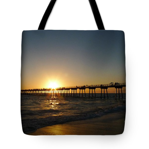 Hermosa Beach Sunset Tote Bag by Nina Prommer
