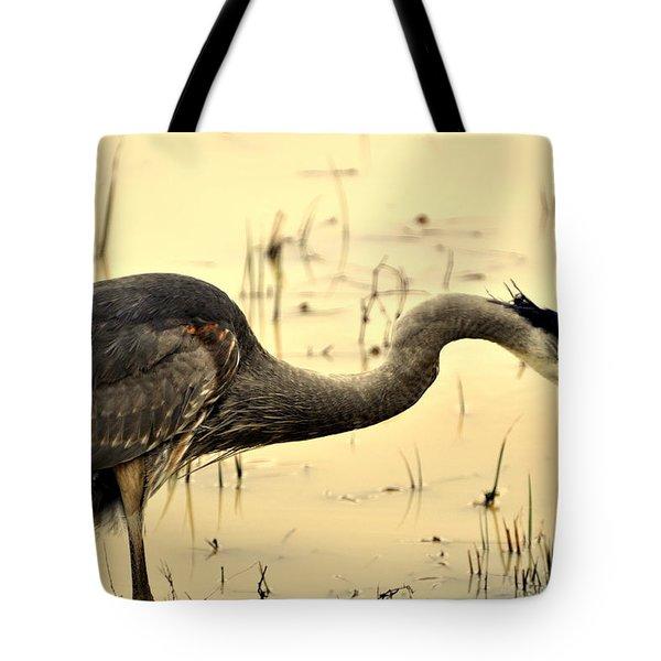 Heron Fishing Tote Bag by Marty Koch
