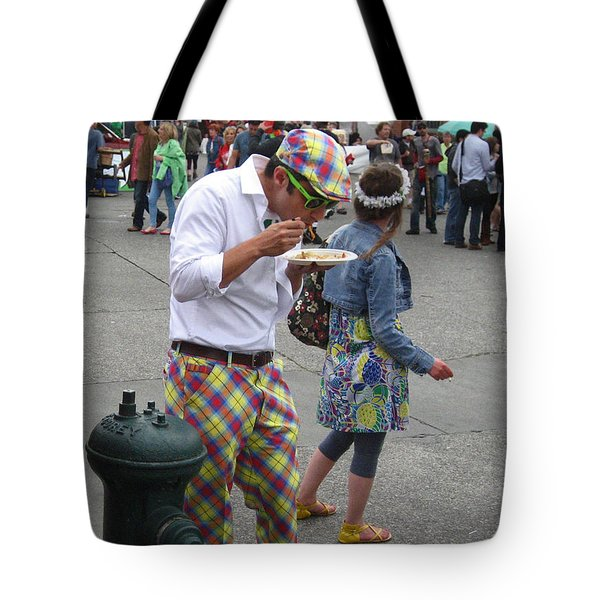 He's A Wild And Crazy Guy Tote Bag by Kym Backland