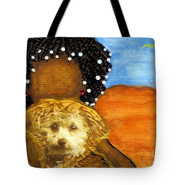 He's My Very Best Friend Tote Bag by Angela L Walker