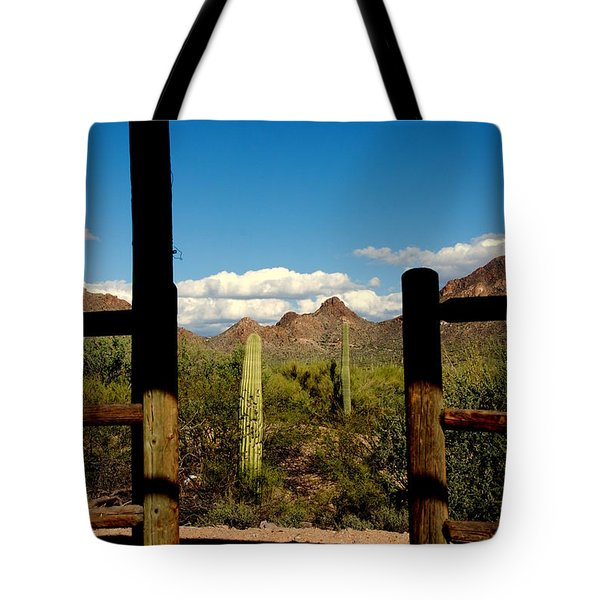 High Chaparral Old Tuscon Arizona  Tote Bag by Susanne Van Hulst