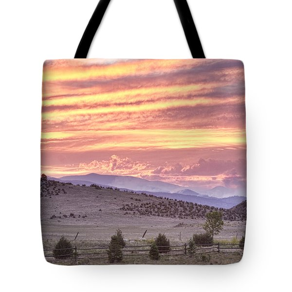 High Park Fire Larimer County Colorado At Sunset Tote Bag by James BO  Insogna