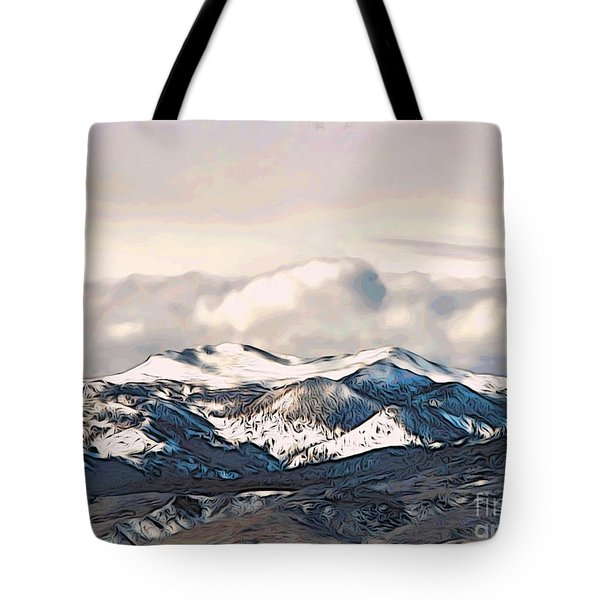 High Sierra Mountains Tote Bag by Phyllis Kaltenbach