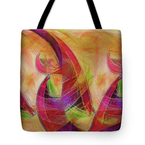 High Vibrational Tote Bag by Linda Sannuti
