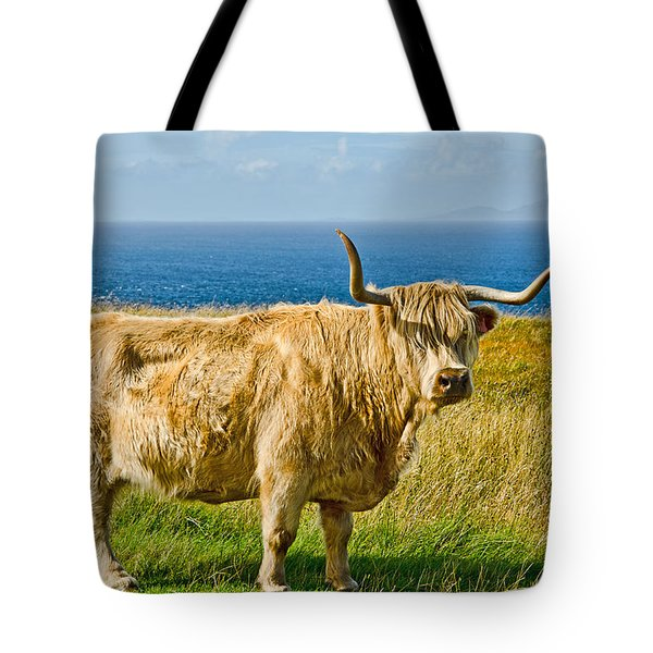 Highland Cow Tote Bag by Chris Thaxter