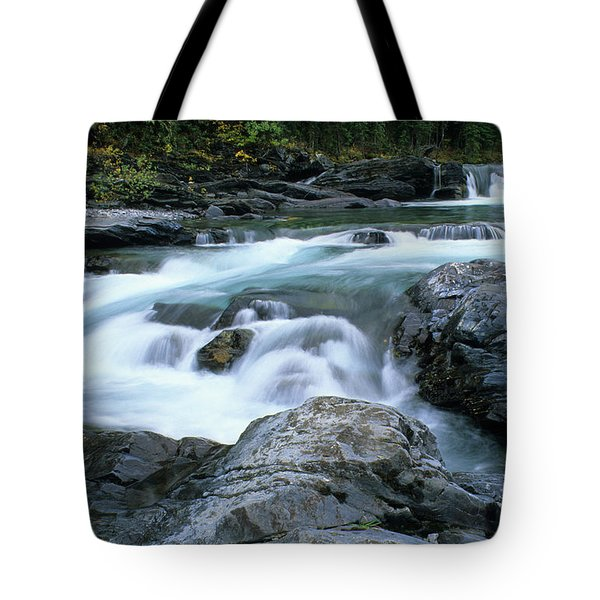 Highwood River Tote Bag by Bob Christopher