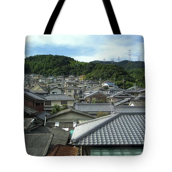 HILLSIDE VILLAGE in JAPAN Tote Bag by Daniel Hagerman