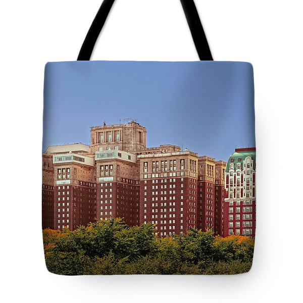 Hilton Chicago And Blackstone Hotel Tote Bag by Christine Till