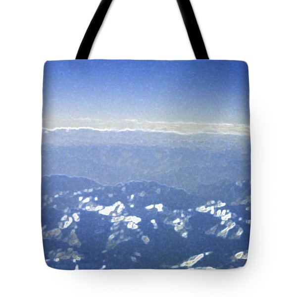 Himalayas Blue Tote Bag by First Star Art
