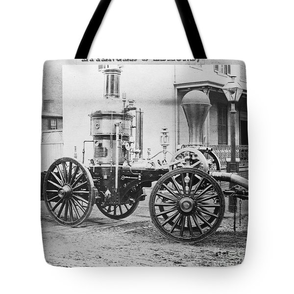 Historic Fire Engine Tote Bag by Omikron