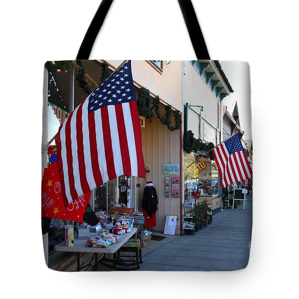 Historic Niles District in California Near Fremont . Main Street . Niles Boulevard . 7D10692 Tote Bag by Wingsdomain Art and Photography