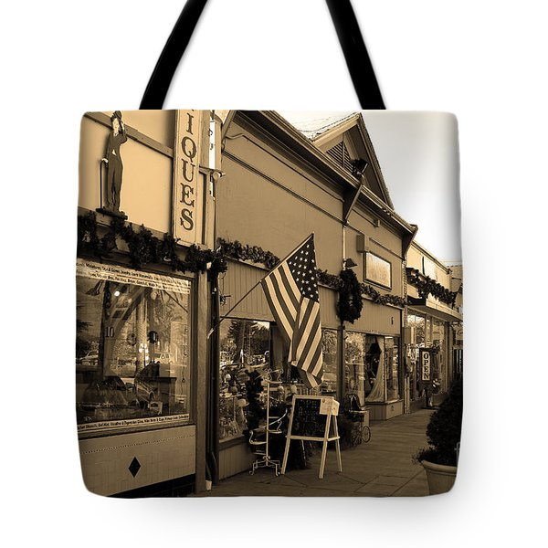 Historic Niles District in California Near Fremont . Main Street . Niles Boulevard . 7D10701 . sepia Tote Bag by Wingsdomain Art and Photography