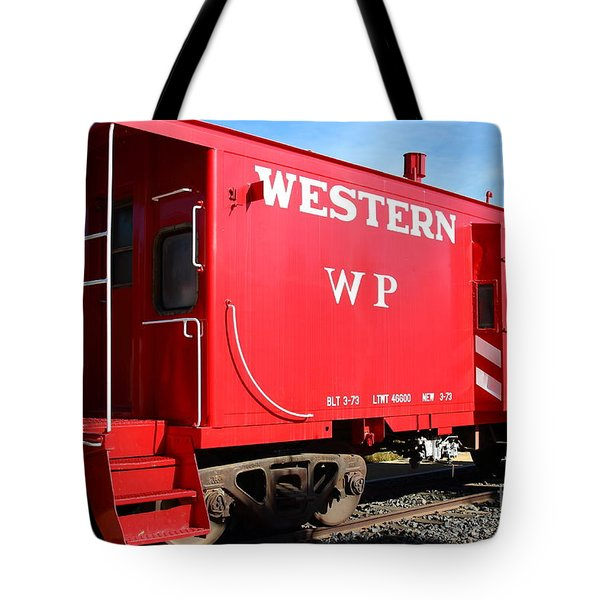 Historic Niles District in California Near Fremont . Western Pacific Caboose Train . 7D10627 Tote Bag by Wingsdomain Art and Photography