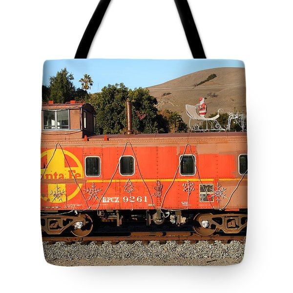 Historic Niles Trains in California . Old Sante Fe Caboose . 7D10832 Tote Bag by Wingsdomain Art and Photography