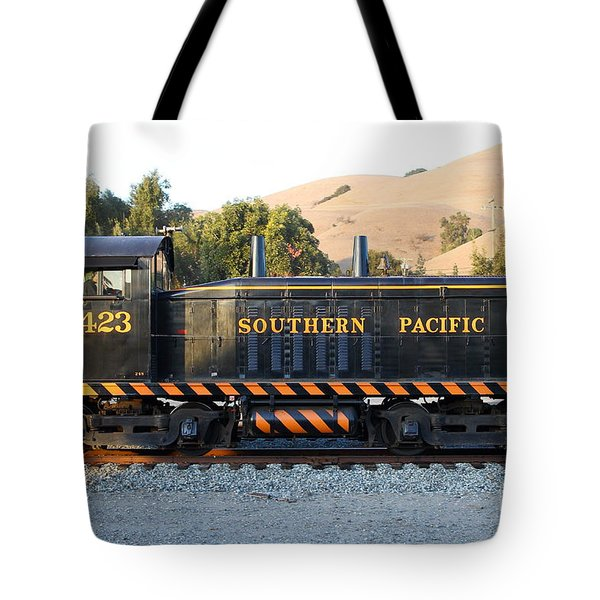 Historic Niles Trains in California . Old Southern Pacific Locomotive . 7D10867 Tote Bag by Wingsdomain Art and Photography