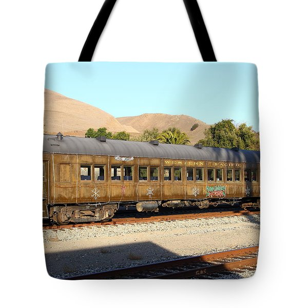 Historic Niles Trains in California . Old Western Pacific Passenger Train . 7D10836 Tote Bag by Wingsdomain Art and Photography