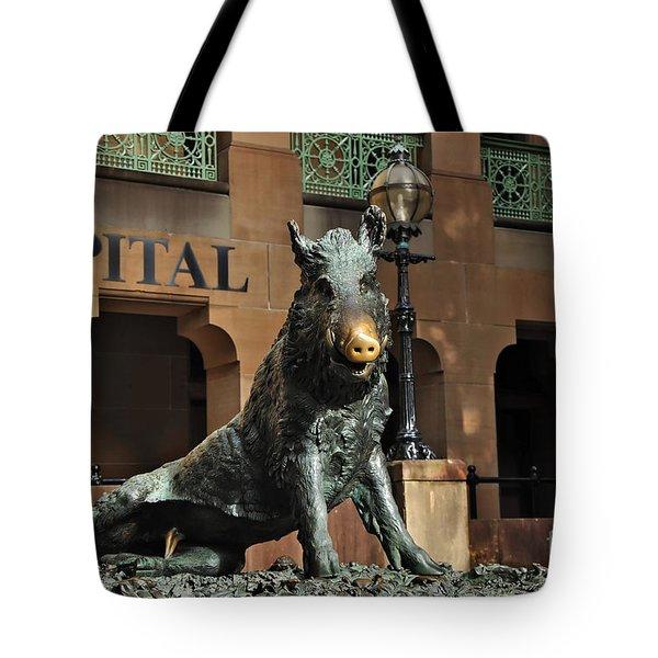 Historic Sydney Hospital - Florentine Boar Tote Bag by Kaye Menner