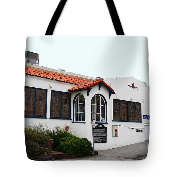 Historical Moss Beach Distillery at Half Moon Bay . 7D8168 Tote Bag by Wingsdomain Art and Photography