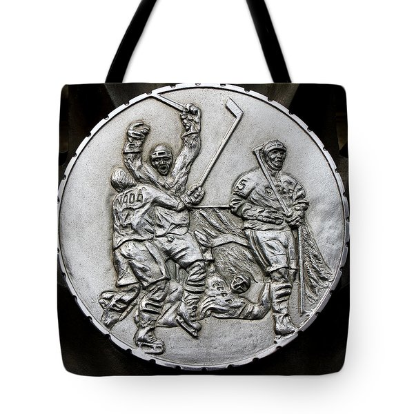 Hockey 1 Tote Bag by Andrew Fare