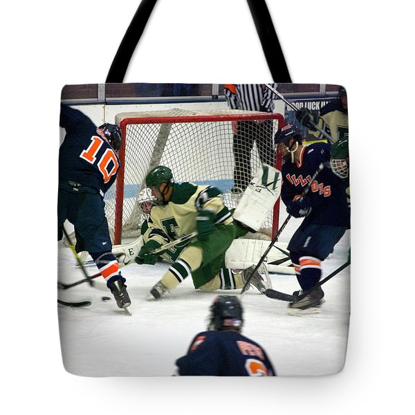 Hockey Two On Four Tote Bag by Thomas Woolworth