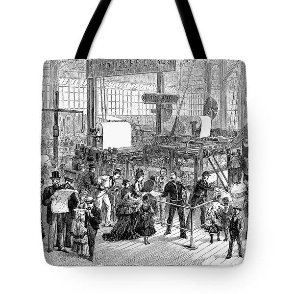 Hoe Web Printing Press Tote Bag by Granger