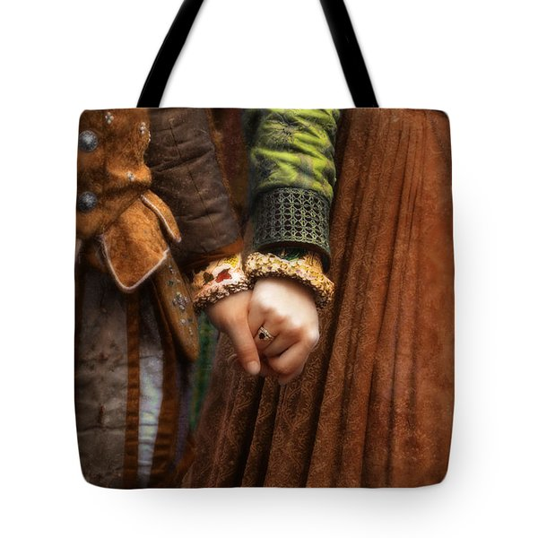 Holding Hands Tote Bag by Jill Battaglia