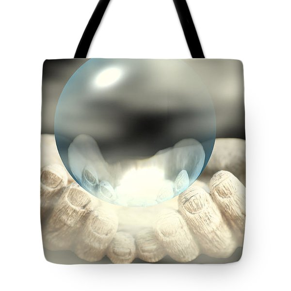 Holding Infinity Tote Bag by Cheryl Young