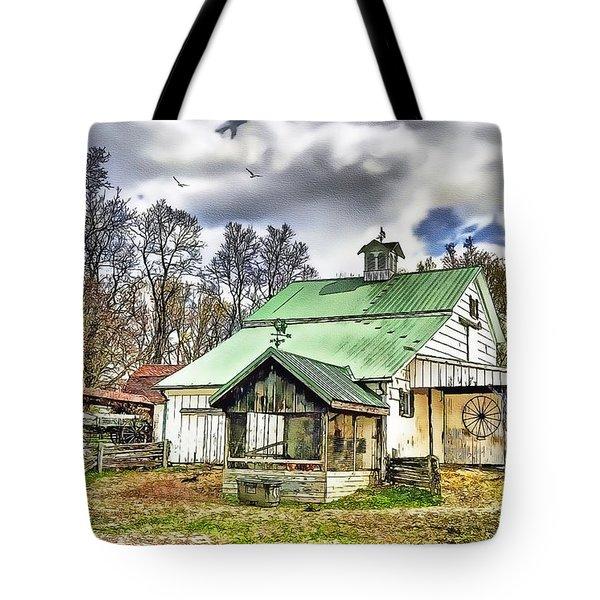 Holmes County Farm Tote Bag by Tom Schmidt